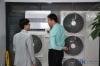 徐州办事处内展示的东芝空调样机产品